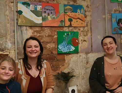 Les toiles des enfants s'exposent au Fox coffee de Metz !