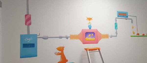fresque pédiatrie enchantee